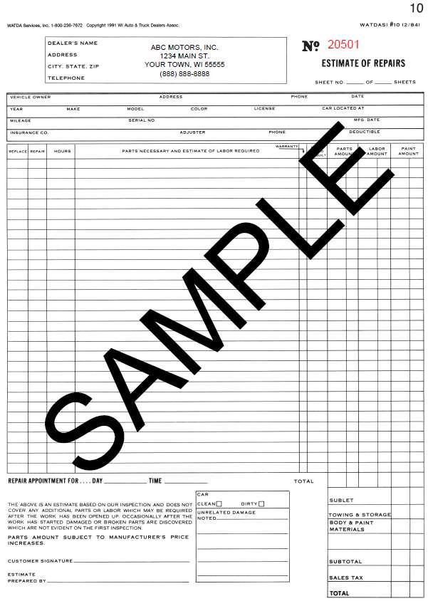 painting estimates samples templates .