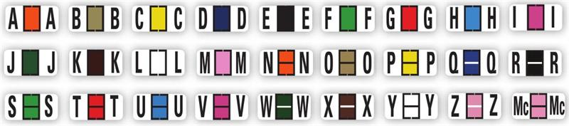 color code alphabet labels book full set - The Color Code Book