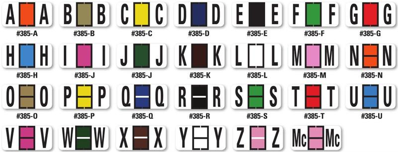 color code alphabet labels book - Color Code Book