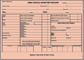 Used Vehicle Inventory Record