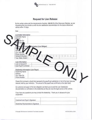 Request for Lien Release