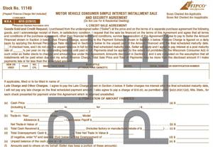 M V Consumer Simple Interest Installment Contract 2 2012