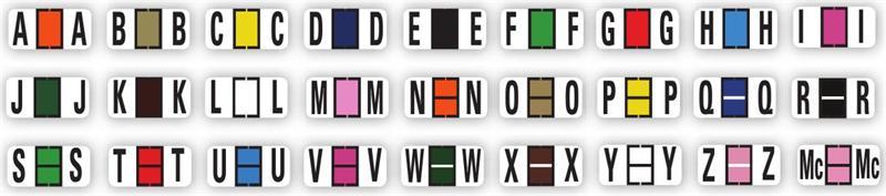Color-Code Alphabet Labels, Book, Full Set
