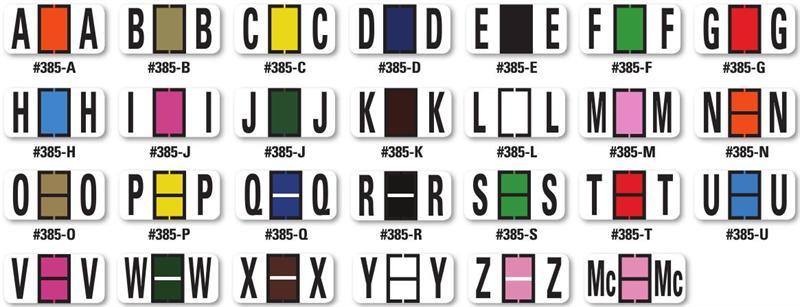 Color-Code Alphabet Labels, Book