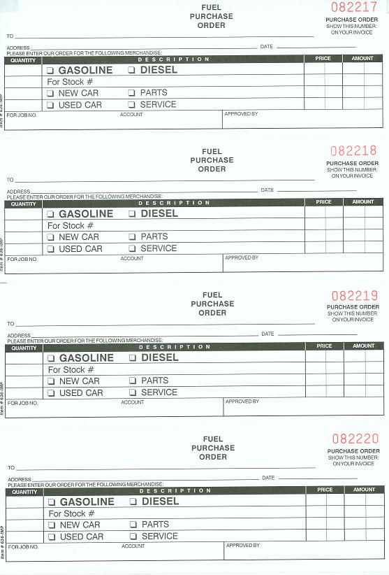online purchase order template