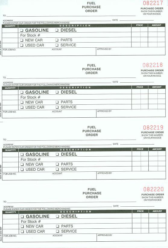 Fuel purchase order book nc 124 3fuel 3 pt maxwellsz