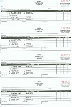 Fuel Purchase Order Book NcFuel  Pt